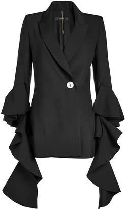 Ellery Forsaken Frill Sleeve Jacket with Wool