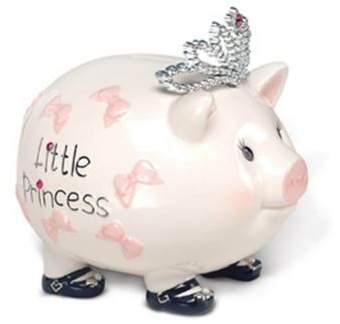 Mud Pie Baby Princess Piggy Bank