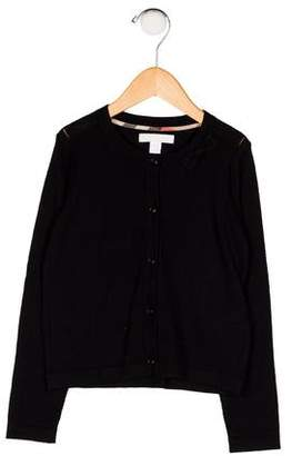 Burberry Girls' Cashmere Button-Up Cardigan