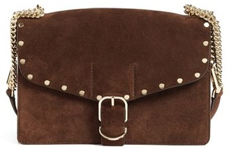 Rebecca Minkoff Medium Biker Leather Shoulder Bag - Brown $295 thestylecure.com