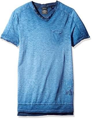 Buffalo David Bitton Men's Kiyo Short Sleeve Henley Neck Solid Fashion T-Shirt