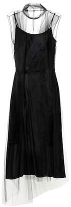 Prada Silk and tulle midi dress