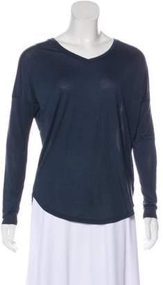 Halston V-Neck Long Sleeve T-Shirt w/ Tags