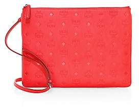 MCM Women's Medium Embossed Logo Crossbody Pouch