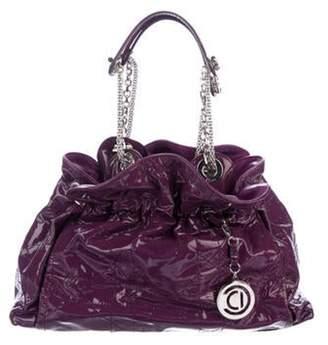 Christian Dior Patent Leather Shoulder Bag Violet Patent Leather Shoulder Bag