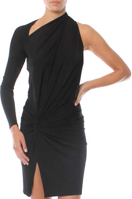 Mason by Michelle Mason Asymmetrical Twist Mini Dress