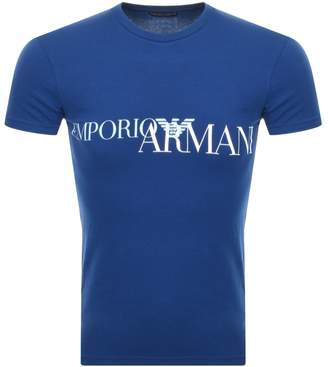 Giorgio Armani Emporio Crew Neck T Shirt Blue