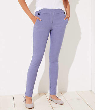 LOFT Tall Skinny Houndstooth Ankle Pants in Julie Fit