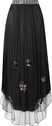 By Malene Birger Beverly Embellished Tulle Maxi Skirt