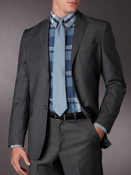Stripe Classic Fit Suit Jacket
