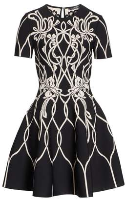 Alexander McQueen Art Nouveau Jacquard Knit Dress