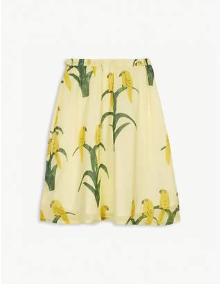Mini Rodini Parot print cotton long skirt 3-11 years
