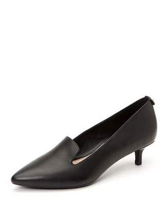 Taryn Rose Nadia Leather Kitten-Heel Arch-Support Pumps