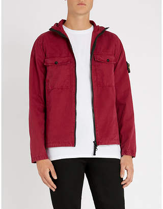 Stone Island Patch-pocket cotton jacket