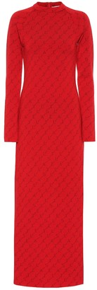 Stella McCartney Logo stretch wool dress