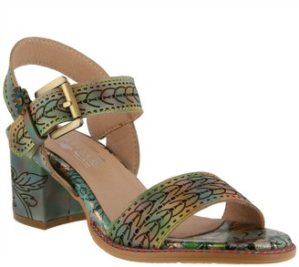 c9a3e5f5f Spring Step L`Artiste by Leather Ankle Strap Sandals - Avonora