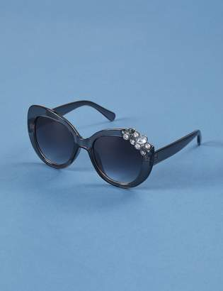 Lane Bryant Butterfly Sunglasses with Stone Cluster