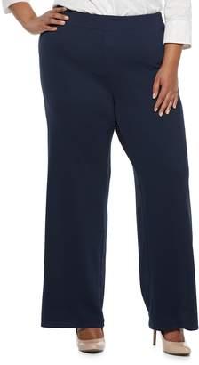 Dana Buchman Plus Size Jacquard Pants