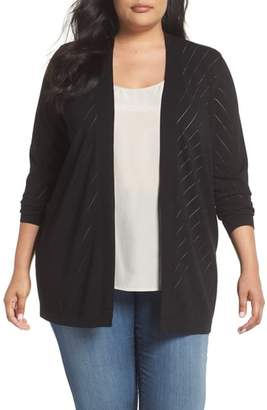 Vince Camuto Pointelle Open Front Cardigan