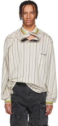 Y/Project Beige Clipped Shoulder Long Sleeve Polo