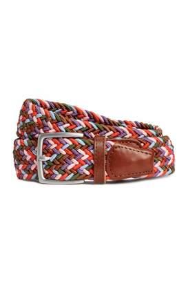 H&M Braided Elastic Belt - Red/multicolored - Men