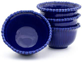 EuroCeramica Sarar 4 Piece Cobalt Cereal Bowl Set