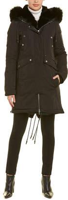 Nicole Benisti Madison Leather-Trim Down Coat