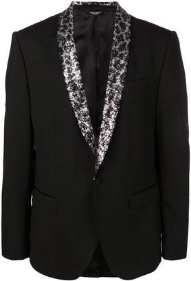 Dolce & Gabbana sequin lapel single breasted blazer