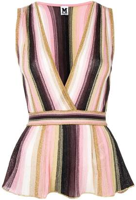 Missoni striped peplum blouse