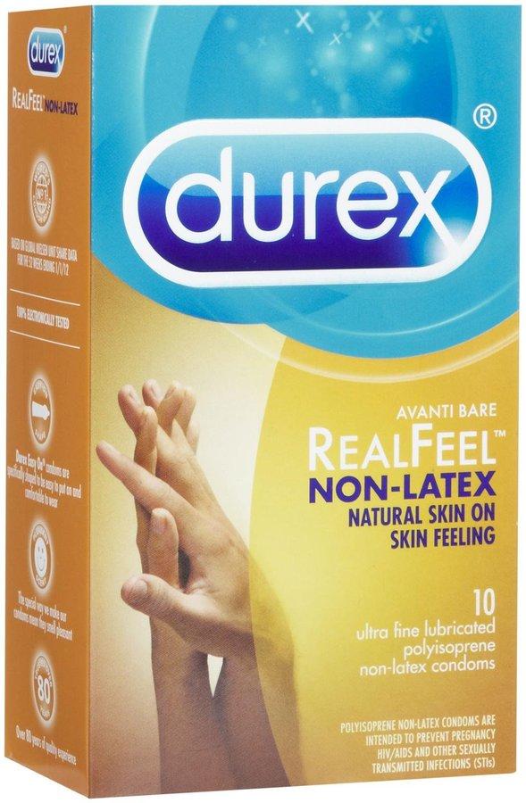 Durex Real Feel Avanti Bare Polyisoprene Non-Latex Condoms-10 ct