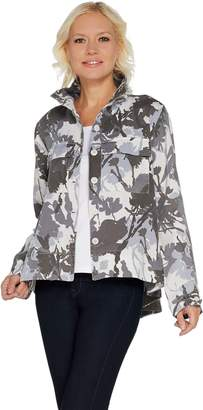 Laurie Felt Button Front Swing Army Jacket