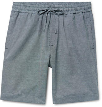YMC Birdseye Cotton and Linen-Blend Drawstring Shorts - Men - Navy