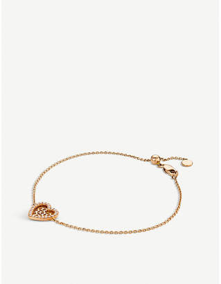 Rosegold BUCHERER JEWELLERY Infinite Love 18ct rose-gold diamond bracelet