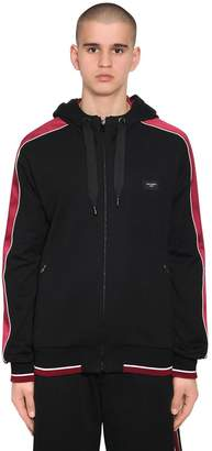 Dolce & Gabbana Hooded Zip-Up Sweatshirt W/ Satin Bands