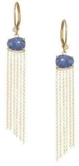 Meira T 14K Yellow Gold Opal Triplet Earrings