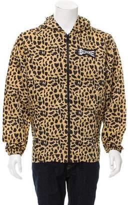 Supreme Leopard Print Windbreaker Jacket