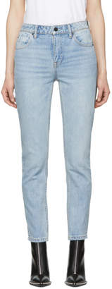 Alexander Wang Blue Cult Side Zip Jeans