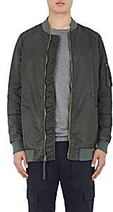 Vince MEN'S TECH-TWILL ELONGATED BOMBER JACKET - GREEN SIZE L