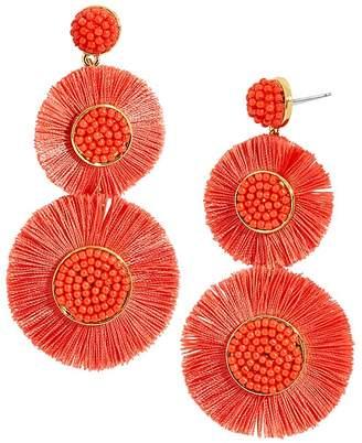 BaubleBar Mariette Round Fringed Drop Earrings