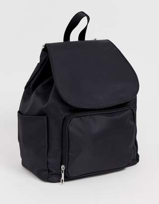 f8da58d1ca Drawstring Backpack With Zipped Pocket - ShopStyle UK