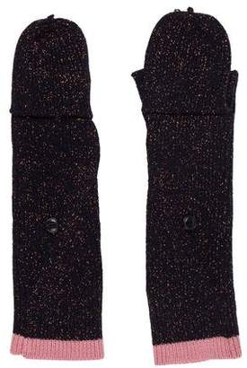 Rag & Bone Metallic Long Knit Gloves