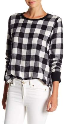 Melrose and Market Plaid Crew Neck Top