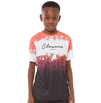 Closure London Junior Boys Printed T-Shirt Red/Black