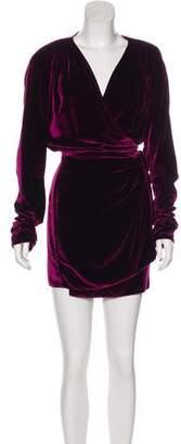 ATTICO Long Sleeve Mini Dress