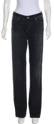 Paige Denim Mid-Rise Straight-Leg Jeans