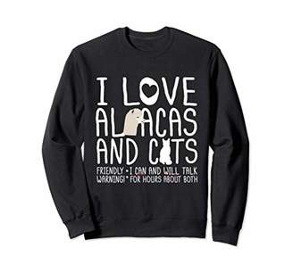 Cat Sweatshirts For Women I Love Alpacas & Cats Gift Shirt