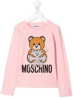 Moschino Kids winter bear logo top