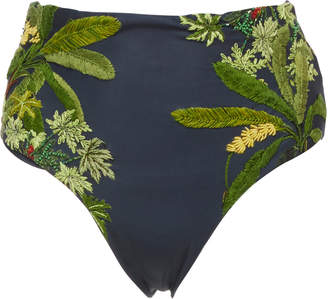 Agua Bendita Agua by Alicia Printed Embroidered High-Waisted Bikini Bottom