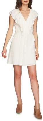 1 STATE 1.STATE V-Neck Ruffle Edge Dress