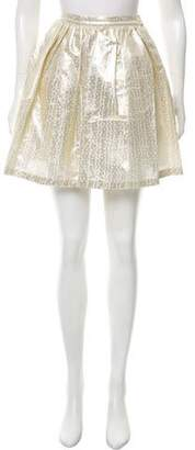 Boy By Band Of Outsiders Metallic Pleated Skirt